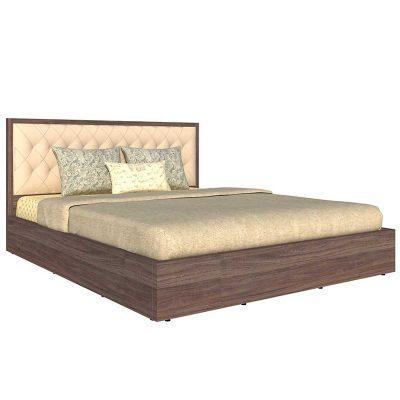 Giường Ngủ Gỗ MDF Đầu Bọc Da 1