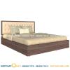 giường ngủ gỗ mdf đầu bọc da