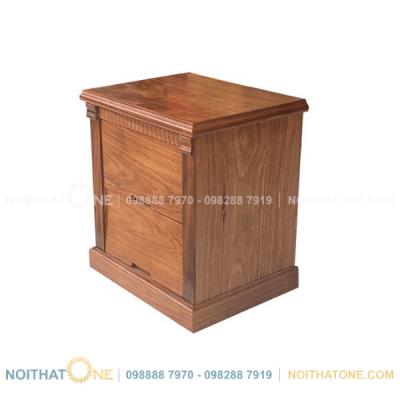 tủ đầu giường gỗ hương xám