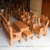 bộ bàn ghế gỗ gõ đỏ tay 12