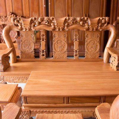 bộ bàn ghế gỗ gõ đỏ giá rẻ
