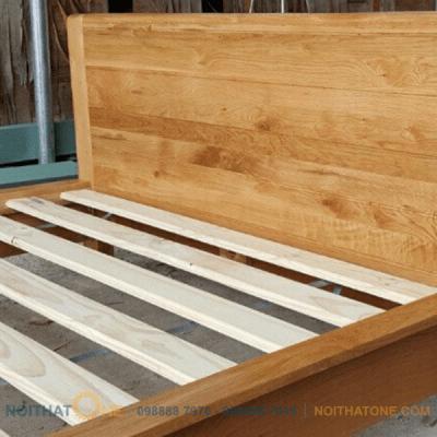 giường ngủ gỗ sồi mỹ kiểu nhật giá rẻ
