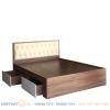 giường ngủ bọc da gỗ mdf