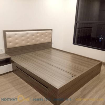 giường ngủ bọc da gỗ mdf giá rẻ