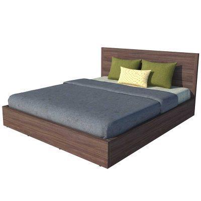 Giường Ngủ Gỗ MDF Màu Nâu 2
