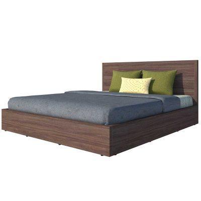 Giường Ngủ Gỗ MDF Màu Nâu 1