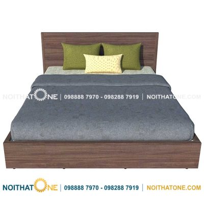 giường ngủ gỗ mdf màu nâu