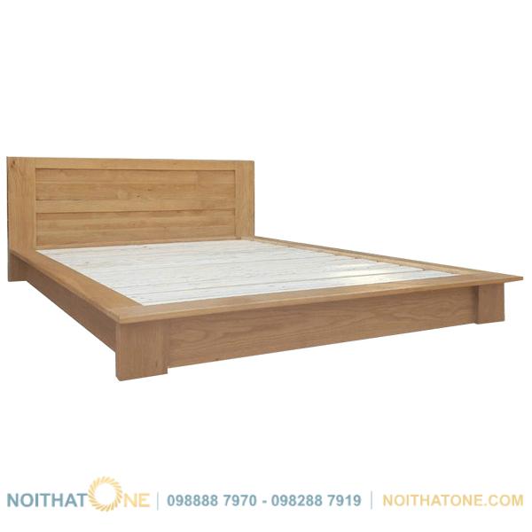 giường ngủ gỗ sồi kiểu nhật