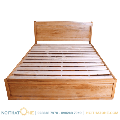 giường ngủ gỗ sồi mỹ pano