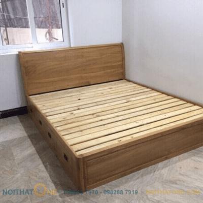giường ngủ gỗ sồi mỹ pano giá rẻ