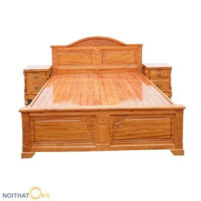 Giường Ngủ Gỗ Gõ Đỏ Cổ Điển