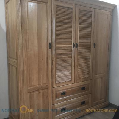 tủ quần áo gỗ sồi mỹ giá rẻ