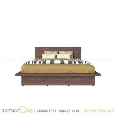 giường ngủ kiểu nhật màu xám