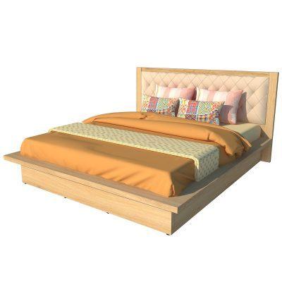 Giường Ngủ Kiểu Nhật Màu Kem Đầu Bọc Da 1