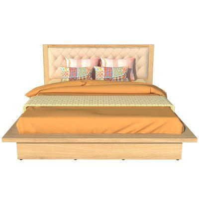Giường Ngủ Kiểu Nhật Màu Kem Đầu Bọc Da 2