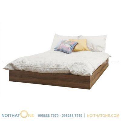 giường gỗ mdf vener vân gỗ