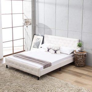 giường bọc da nữ hoàng