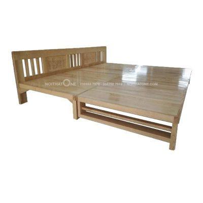 giường ngủ gỗ sồi kiểu gấp giá rẻ