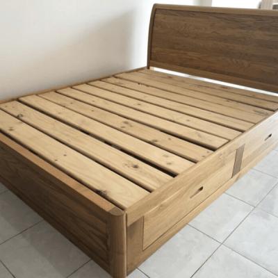 giường ngủ gỗ sồi mỹ giá rẻ
