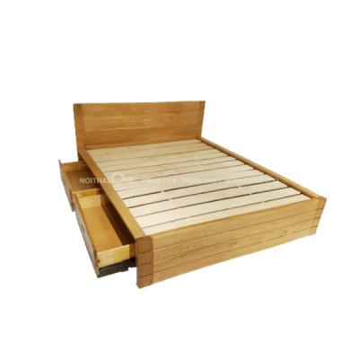 giường ngủ gỗ sồi mỹ hộc kéo