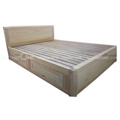giường ngủ gỗ sồi nga hộc kéo giá rẻ