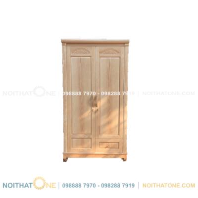 tủ quần áo gỗ sồi nga 2 cánh