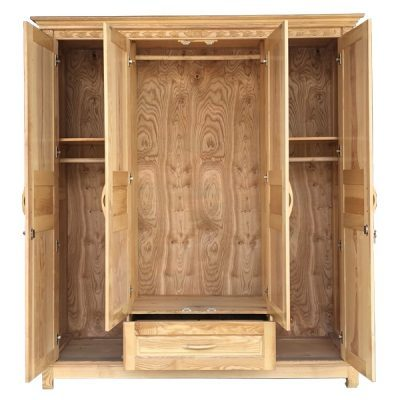 tủ quần áo gỗ sồi nga 4 cánh giá rẻ