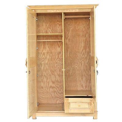 Tủ quần áo gỗ sồi nga 2 cánh giá rẻ