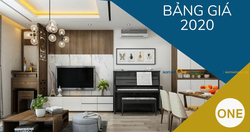 bảng giá thiết kế thi công nội thất năm 2020