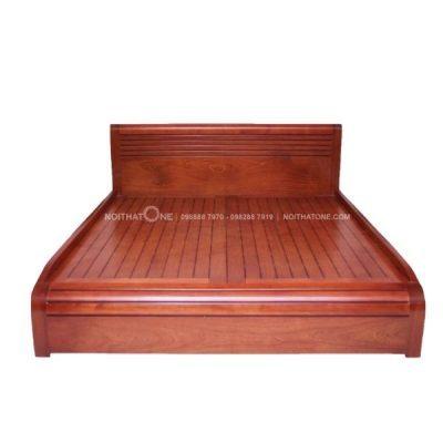 giường ngủ đuôi cong gỗ xoan đào