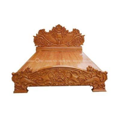 giường ngủ gỗ gõ đỏ đẳng cấp vip