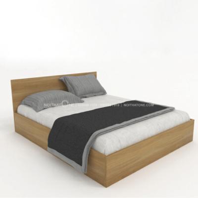 giường ngủ hộp hiện đại vân gỗ