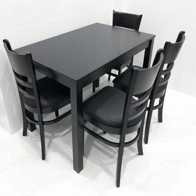 bộ bàn ăn 4 ghế bọc nệm