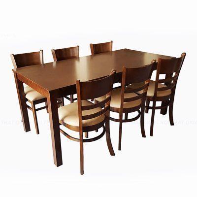 bộ bàn ăn gỗ tự nhiên gia đình 6 ghế