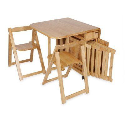 bộ bàn ăn xếp gọn hiện đại