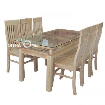 bộ bàn ăn gỗ sồi nga đẹp giá rẻ