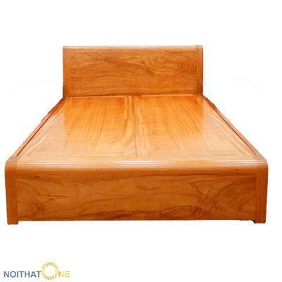 Giường ngủ gỗ gõ đỏ vạt phản