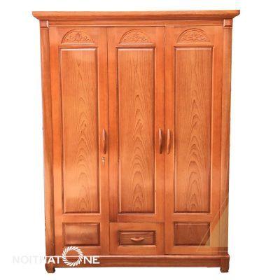 tủ áo quần gỗ sồi đẹp giá rẻ